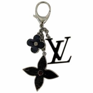 LOUIS VUITTON Fleur d' Epi Bag Charm Black